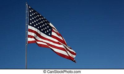 drapeau américain, parade