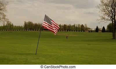 drapeau américain, pré