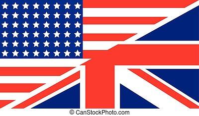 drapeau américain, royaume-uni