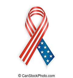 drapeau américain, ruban
