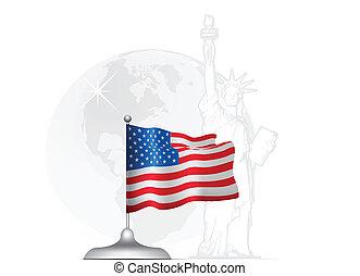 drapeau américain, stand