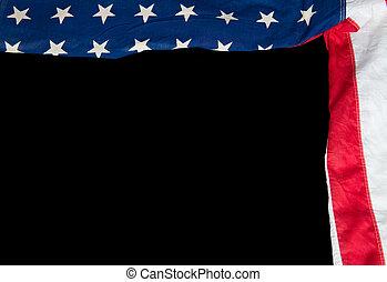 drapeau américain, sur, a, arrière-plan noir