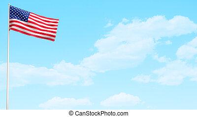 drapeau américain, usa, jour