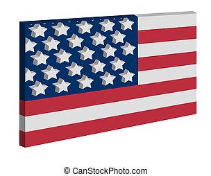 drapeau, américain