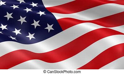 drapeau américain, vent