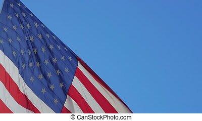 drapeau américain, waving., haut fin