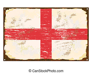 drapeau, anglaise, émail, signe