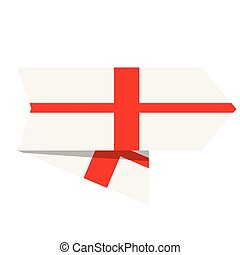 drapeau, angleterre, étiquette