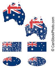 drapeau, australie, ensemble