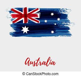drapeau, australie, fond