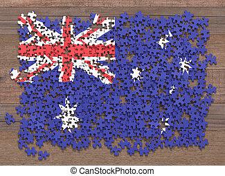 drapeau, australie, puzzle