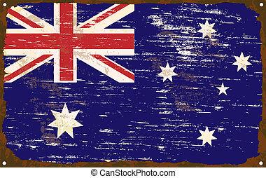 drapeau australien, émail, signe