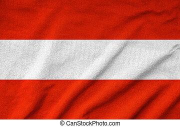 drapeau autriche, a froissé