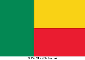 drapeau, bénin