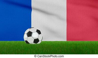 drapeau, balle, france