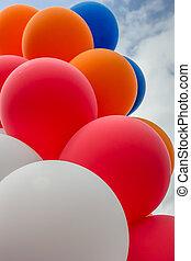 drapeau, ballons, couleurs, hollandais