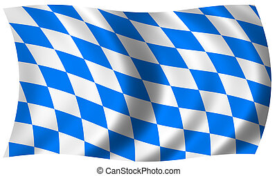 drapeau, bavière, vague