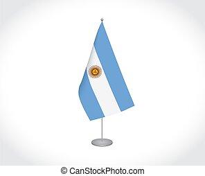 drapeau, blanc, argentine, fond