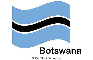 drapeau, botswana, original, couleurs, proportions, national