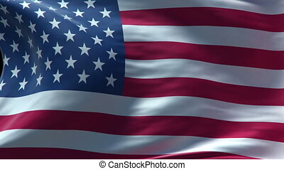 drapeau, boucle, américain, onduler