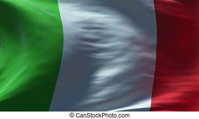 drapeau, boucle, italie, onduler