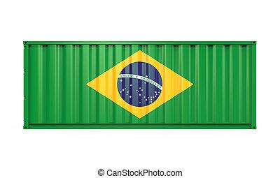 drapeau brésil, récipient