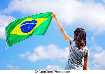 drapeau brésil, tenue femme
