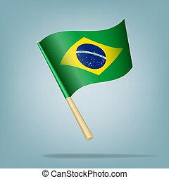 drapeau brésil, vecteur, illustration