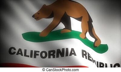 drapeau, californie