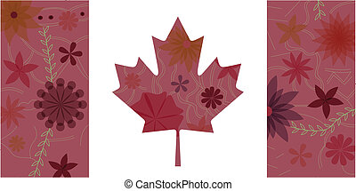 drapeau, canada, 3, vendange