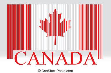 drapeau canada, barcode
