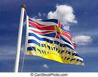 drapeau canada, colombie, britannique