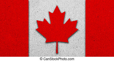 drapeau canada, papier, grunge, fond