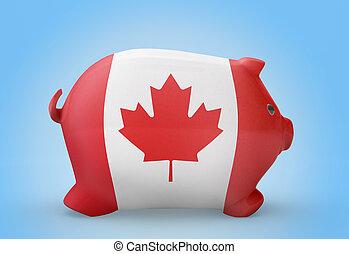 drapeau canada, tirelire, .(series)