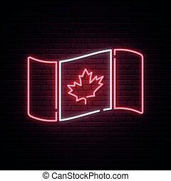 drapeau, canada, vecteur, illustration, day., concept, national