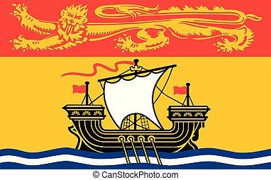 drapeau canada, vecteur, nouveau brunswick, province