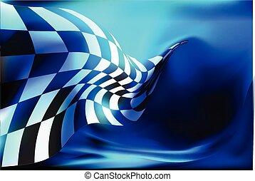 drapeau, checkered, course, vec, fond