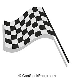 drapeau, checkered, courses