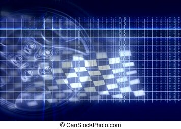 drapeau, checkered, divertissement, passe-temps