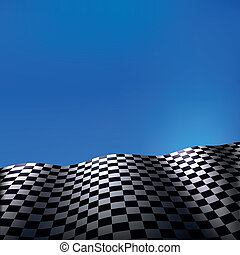 drapeau checkered