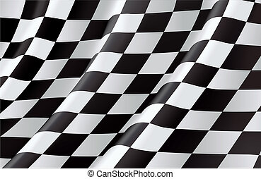 drapeau checkered, vecteur, fond