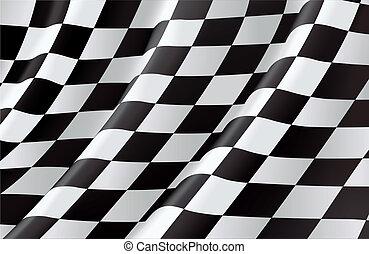 drapeau checkered, vecteur, fond