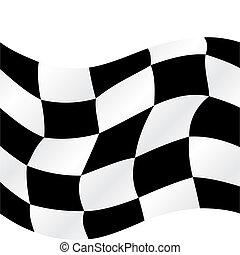 drapeau, checkered
