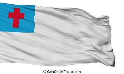drapeau, chrétien, isolé, boucle, seamless