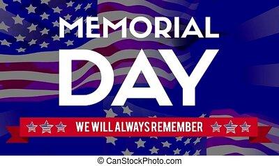 drapeau commémoratif, thème, arrière-plan animation, jour