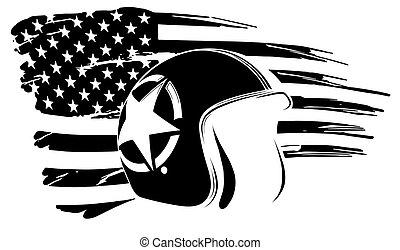 drapeau, commémoratif, usa, vétéran, amérique, typon, jour, indépendance