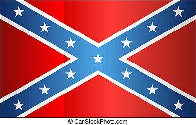 drapeau, confédéré, grunge