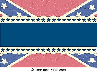 drapeau, confédération, fond