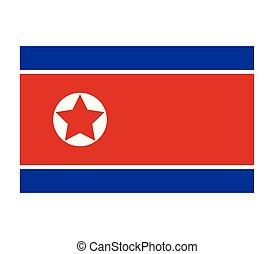 drapeau, corée, nord