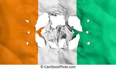drapeau, cote, trous, divoire